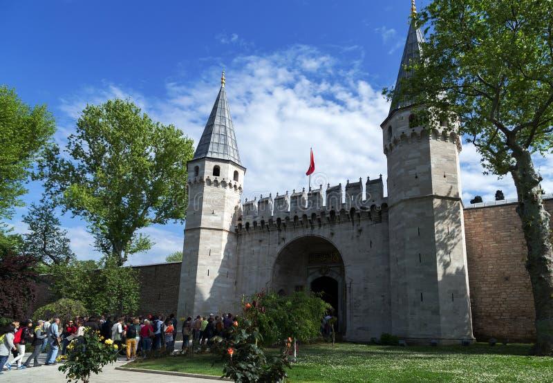 Topkapi-Palast, Istanbul die Türkei lizenzfreies stockfoto