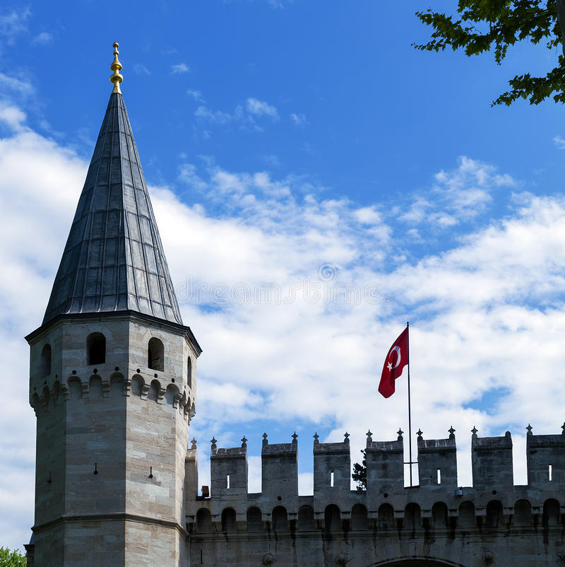 Topkapi-Palast, Istanbul die Türkei lizenzfreie stockbilder