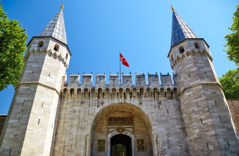 Topkapi-Palast, Tor des Grußes, Istanbul stockbild