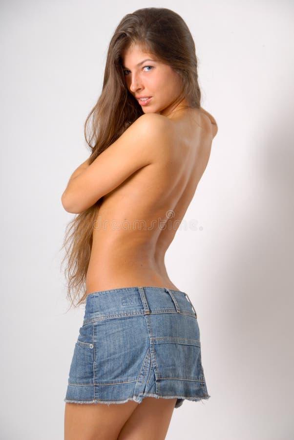 topless flicka royaltyfria foton