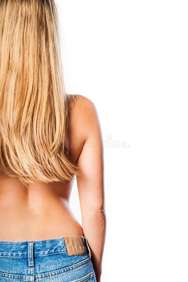 blont hår bakifrån