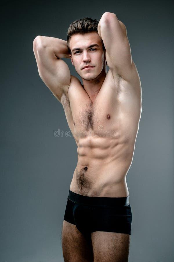 Topless man för mode arkivfoton