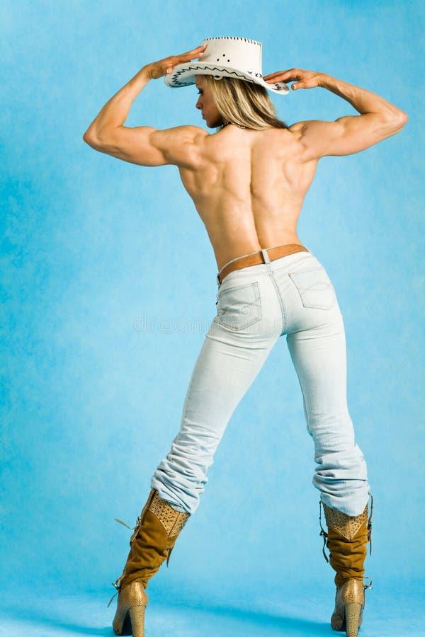 Topless veedrijfster stock foto