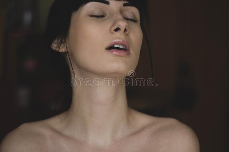 Topless Woman Closing Her Eyes Free Public Domain Cc0 Image