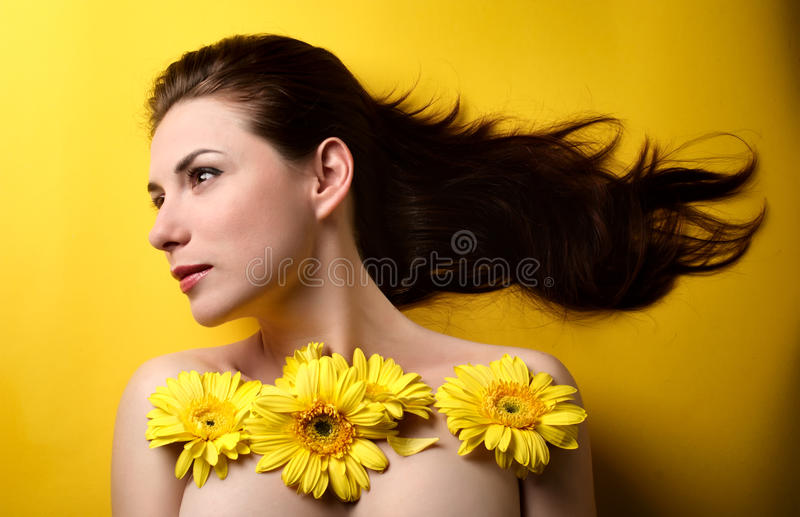 Download Topless Woman Covered With Flowers Stock Image - Image of topless, adult: 19802105