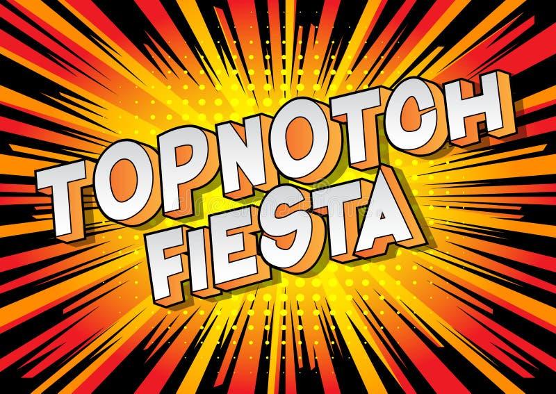 Topnotch Fiesta - de Grappige woorden van de boekstijl stock illustratie