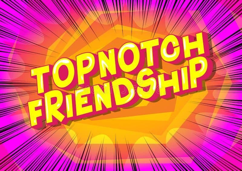 Topnotch przyjaźń - komiksu stylu zwrot ilustracja wektor