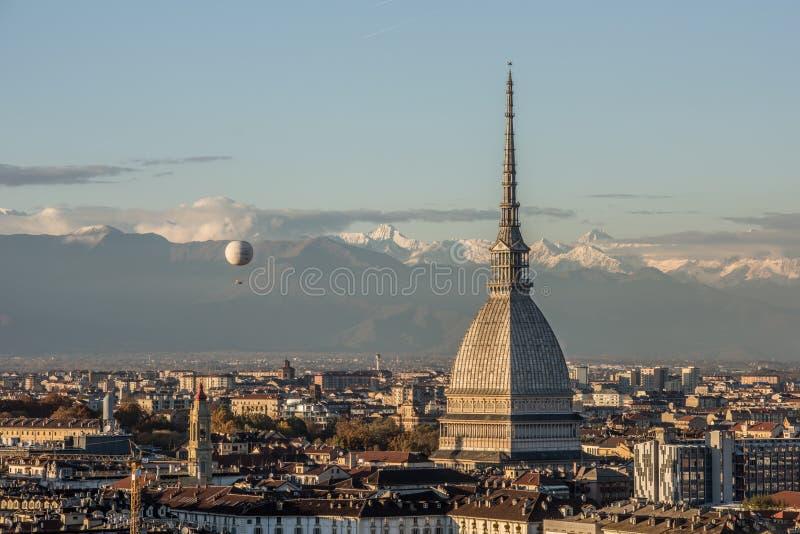 Topo Antonelliana del La en Turín, Italia fotografía de archivo