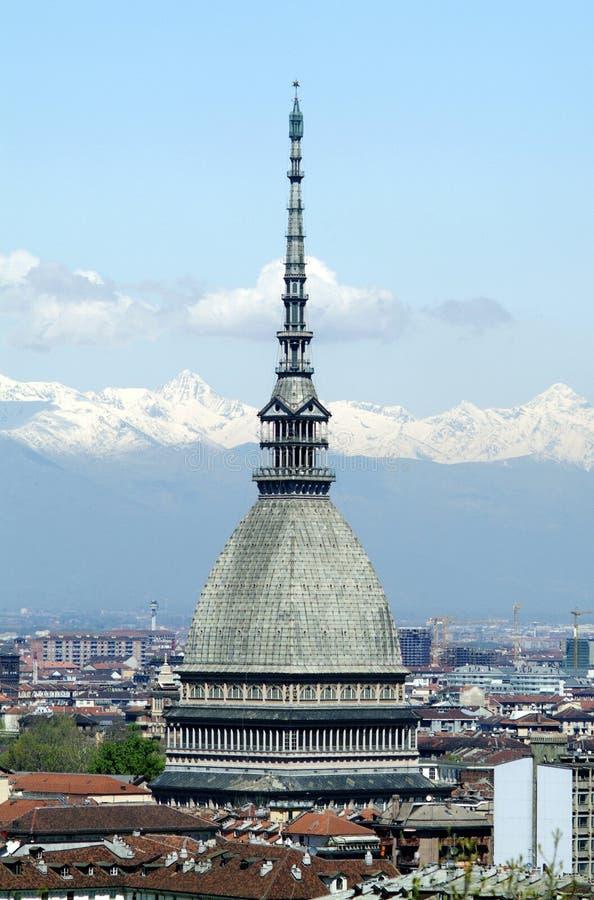 Topo Antonelliana en Turín, Italia fotografía de archivo libre de regalías