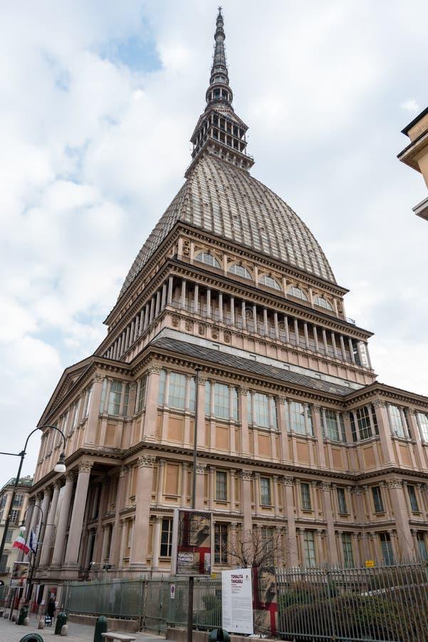 Topo Antonelliana en Turín, Italia foto de archivo