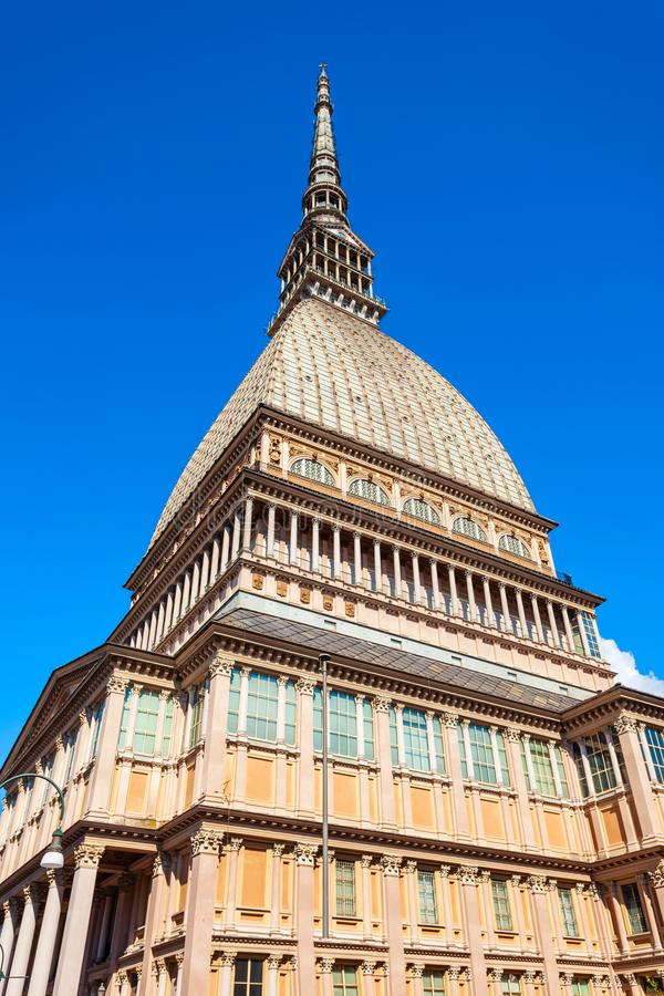 Topo Antonelliana en Tur?n, Italia imagen de archivo