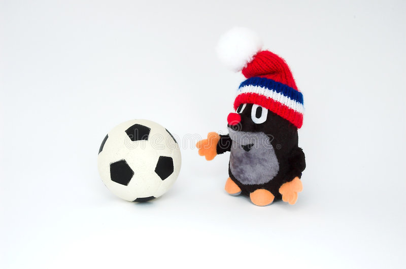 Topo con la bola imágenes de archivo libres de regalías