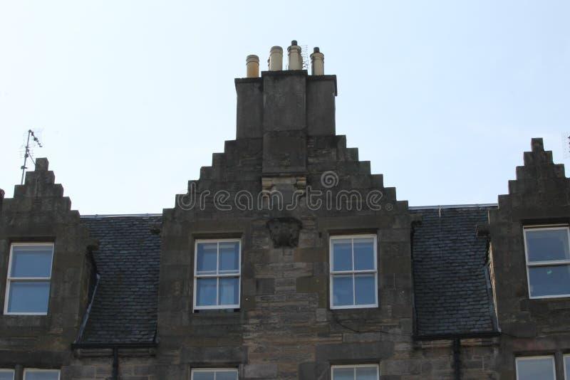 Topo da chaminé em Edimburgo foto de stock