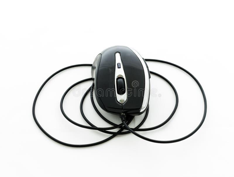 Topo del computer con il cavo di USB fotografia stock libera da diritti