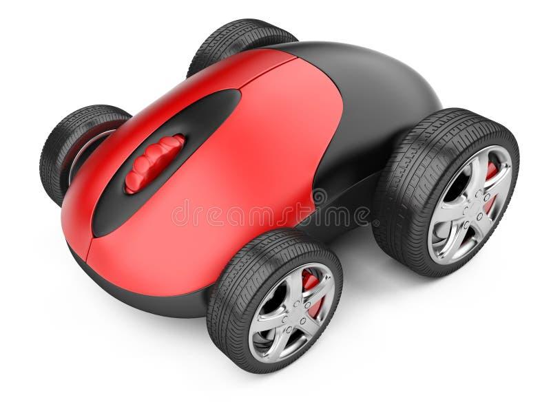 Topo del computer con le ruote illustrazione di stock