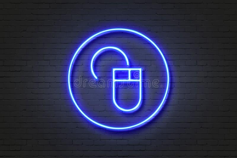Topo dell'icona della luce al neon illustrazione vettoriale