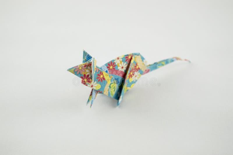 Topo di origami su fondo bianco immagini stock