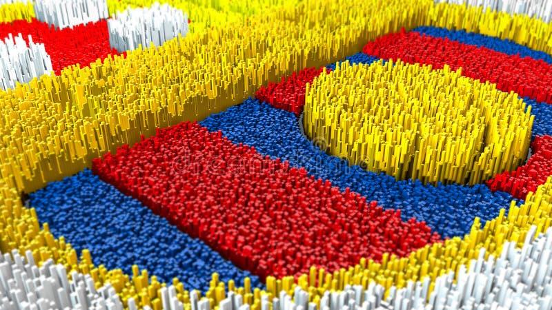 topografía de la representación 3d con los cubos fotografía de archivo
