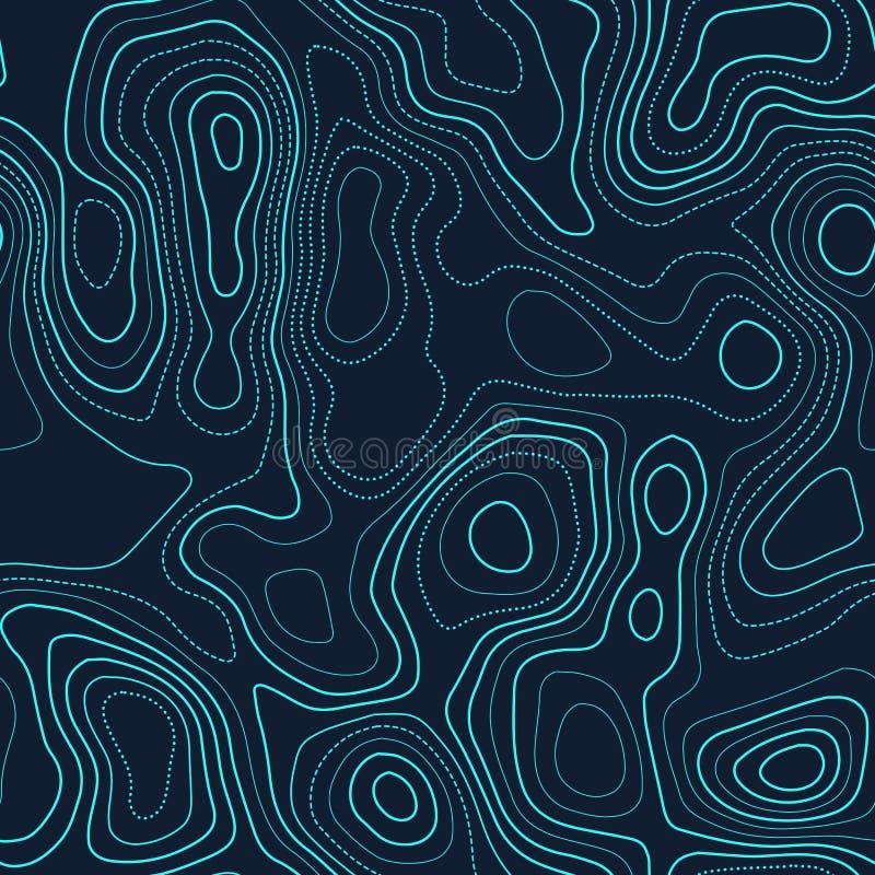 Topografía del terreno ilustración del vector