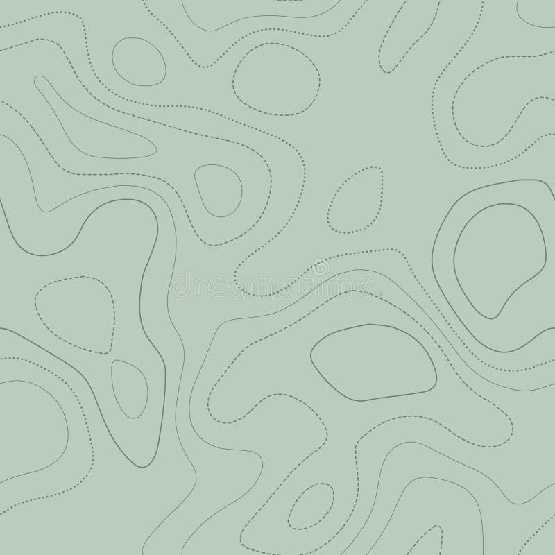 Topografía que sorprende ilustración del vector