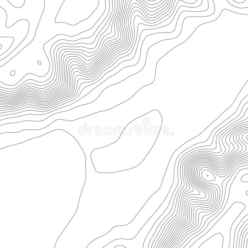 Topografi?versiktsbakgrund E kontur ocks? vektor f?r coreldrawillustration royaltyfri illustrationer