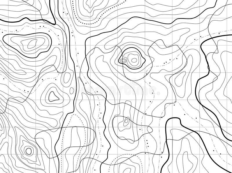 topografisk abstrakt översikt royaltyfri illustrationer