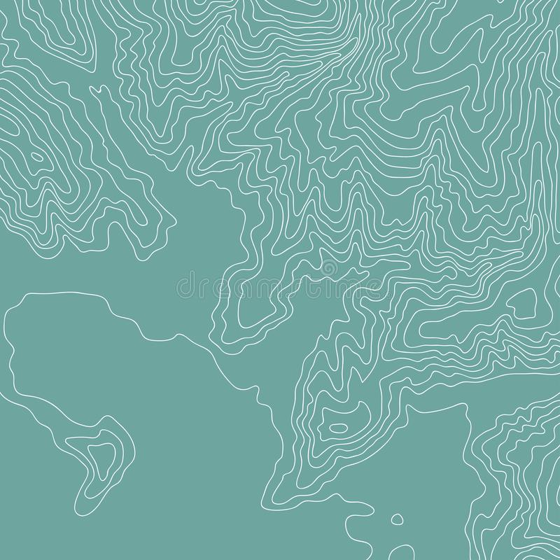 Topographic översikt, färg och roliga linjer, vektor vektor illustrationer