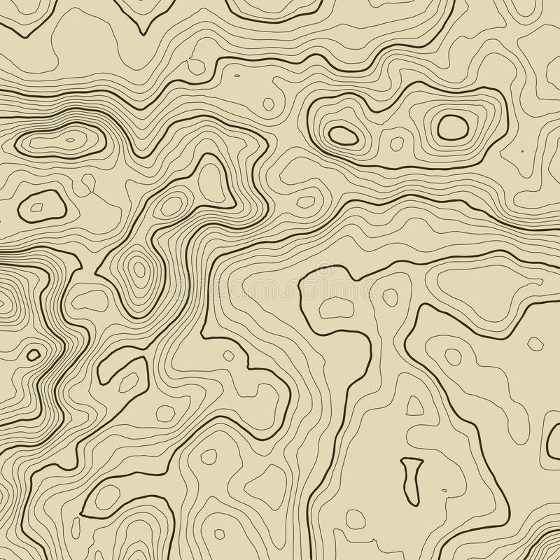 Topographic map background concept with space for your copy. Topography lines art contour , mountain hiking trail. Topographic map background concept with space stock illustration