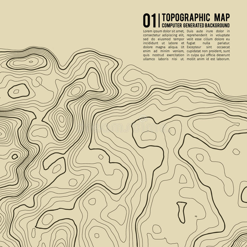 Topographic map background with space for copy . Line topography map contour background , geographic grid abstract royalty free illustration