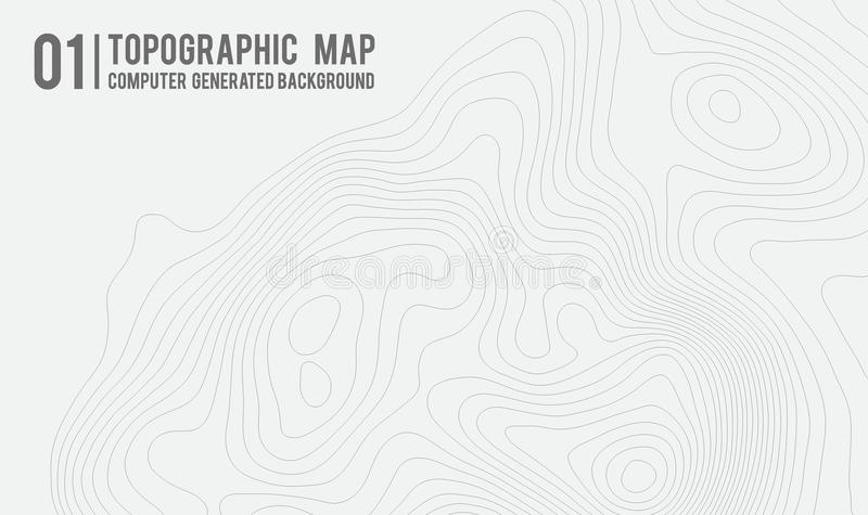 Topographic map background with space for copy . Line topography map contour background , geographic grid abstract. Vector illustration . Mountain hiking trail vector illustration