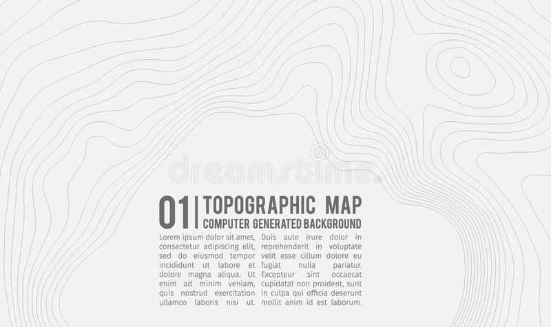 Topographic map background with space for copy . Line topography map contour background , geographic grid abstract. Vector illustration . Mountain hiking trail stock illustration