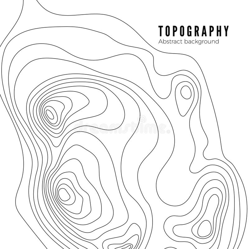 Topographic map contour background pattern. Contour Landscape Map Concept. Abstract Geographic World Topography Map royalty free illustration