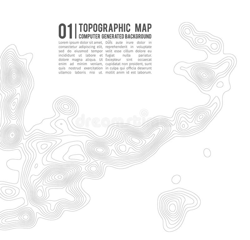 Topographic map contour background. Topo map with elevation. Contour map vector. Geographic World Topography map grid. Abstract royalty free illustration