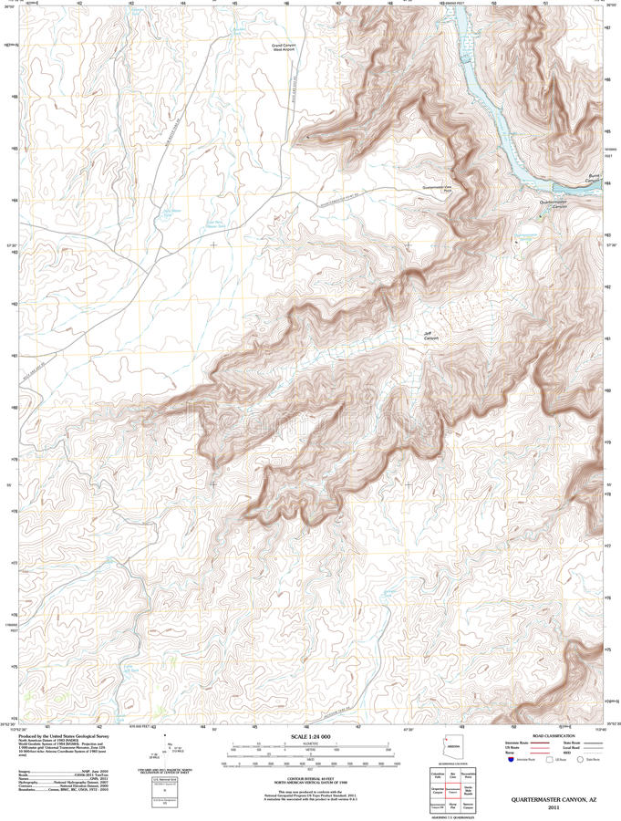 Topographic Map Of The Grand Canyon Stock Illustration Image - Grand canyon us map