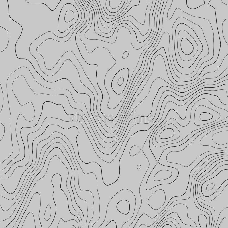 Topographic map lines background. Abstract vector illustration stock illustration