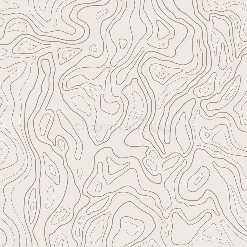 Topographic map lines, earth relief, contour background. Geographic grid, elevation map, vector abstract. royalty free illustration
