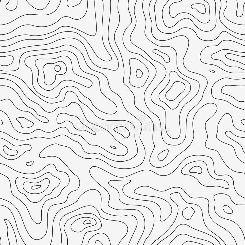 Free Topographic Map Seamless Pattern Royalty Free Stock Images - 52620989