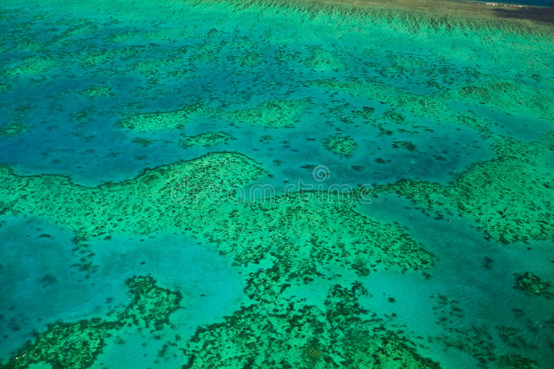 Topographic View Arlington Reef Great Barrier Reef. Aerial View of the Topography of Arlington Reef Great Barrier Reef royalty free stock photography