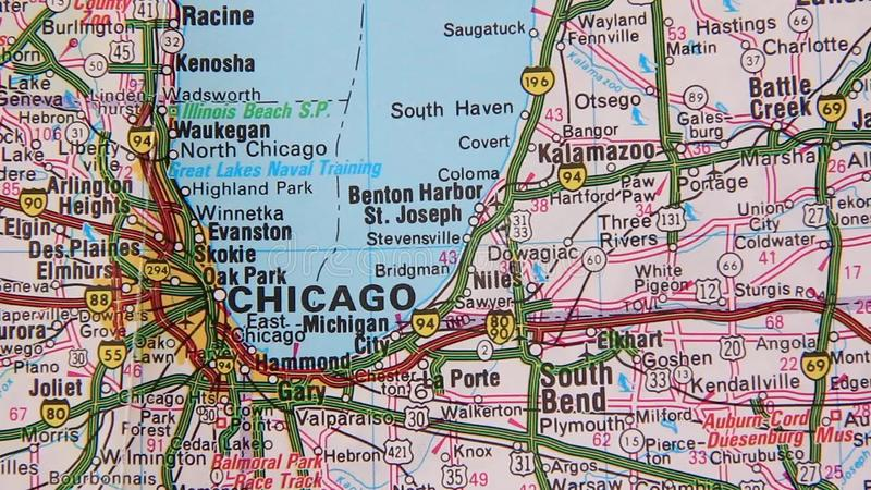 Topographical Map Of The USA. Chicago - Cleveland Stock Footage ...