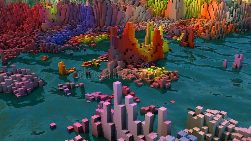 Topographie et couleurs abstraites illustration libre de droits