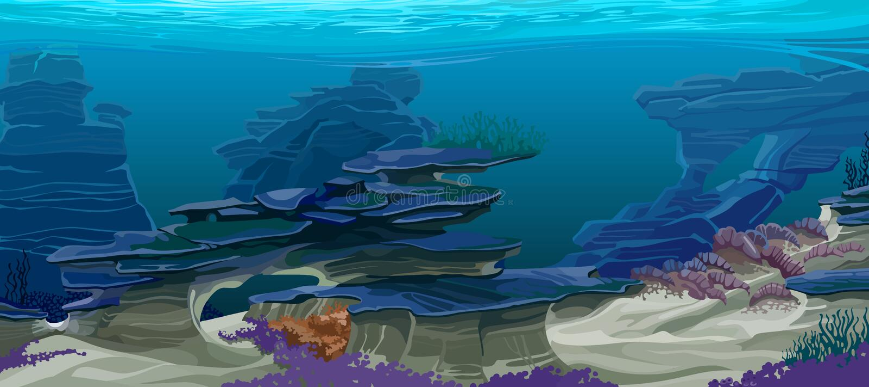Topographie sous-marine illustration stock
