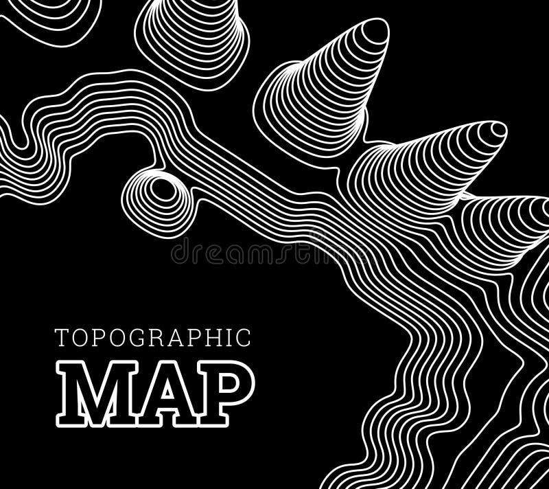 Topographische Karte der Stelle, Vektorillustration vektor abbildung