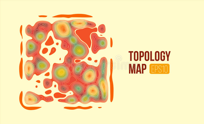 Topography vector map. terrain height slices. Simple infographic and diagramm. Topography vector map. terrain height slices. Simple infographic and charts vector illustration