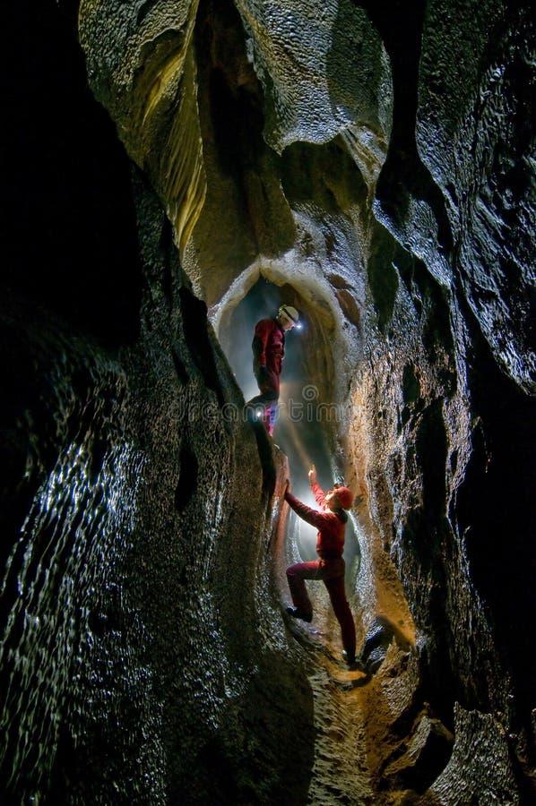 Download Topolnita Cave stock photo. Image of geology, below, caver - 18728126