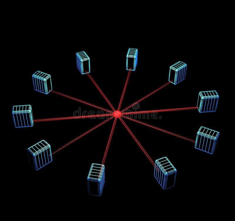Topología de la red de ordenadores imágenes de archivo libres de regalías
