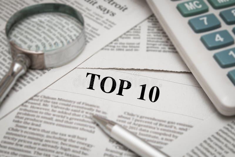 Topp 10 rubrik royaltyfria foton