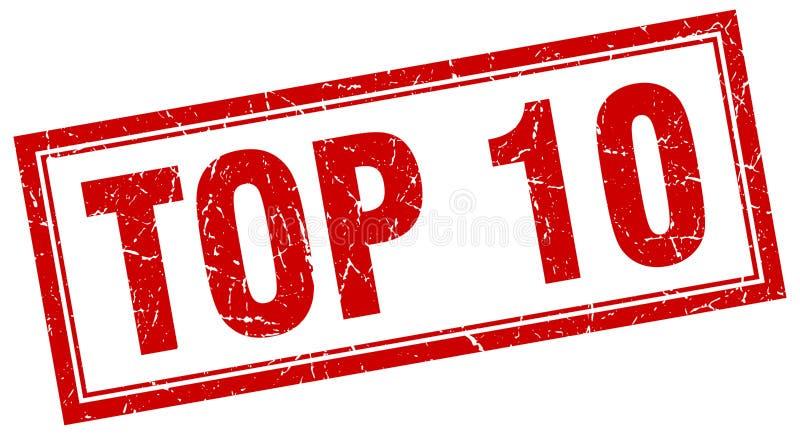 Topp 10 stämpel royaltyfri illustrationer