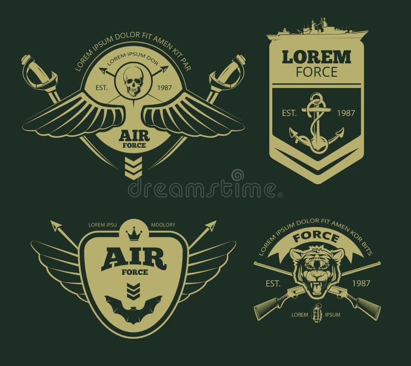 Toppe militari di vettore di colore illustrazione vettoriale
