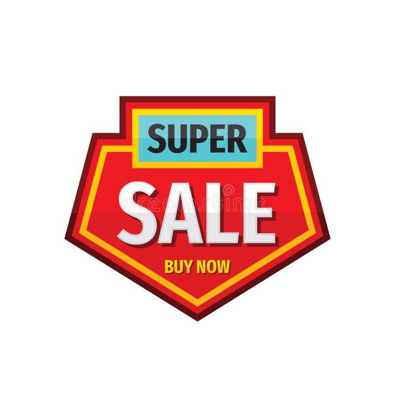 Toppen design för logo för försäljningsemblemvektor Emblemklistermärke i retro stil för tappning stock illustrationer