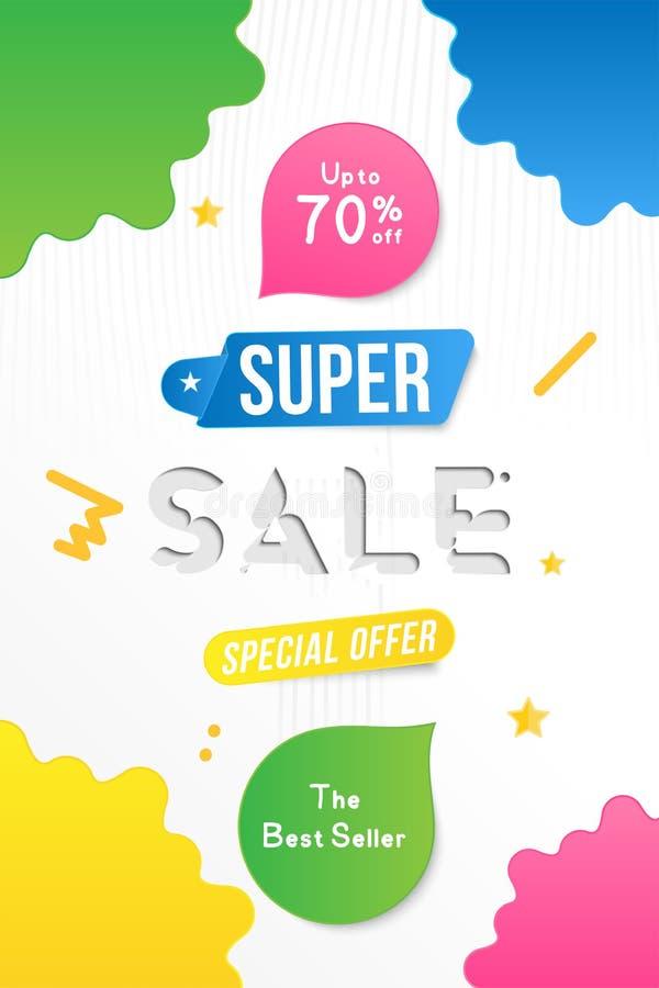 Toppen design för Sale vertikal banermall med dekorativa beståndsdelar Stor försäljningssakkunnig upp till 70 av Specialt erbjuda vektor illustrationer